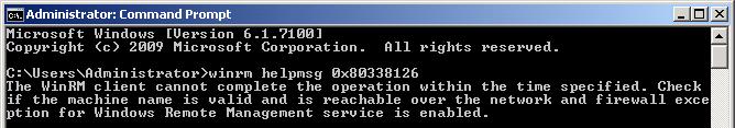 WinRM Help 0x80338126